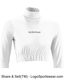 Teamwork Womens Roundoff Midriff Design Zoom
